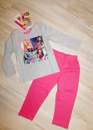 Пижама для девочки 2 лет disney barbie