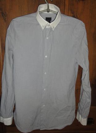 Строгая рубашка с необычным воротником
