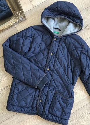 Стёганная куртка на флисе benetton размер с