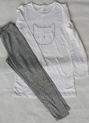 Пижама хлопковая 10лет/140см, la redoute, оригинал.