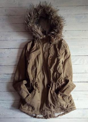 Куртка парка цвета хаки от h&m