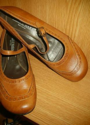 Туфли в стиле «мэри джейн»/нат.кожа/24,5 см/туфли с ремешком