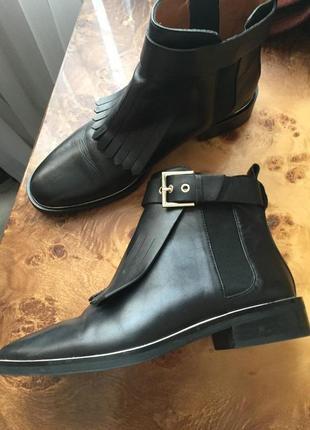 Zara ботинки кожа