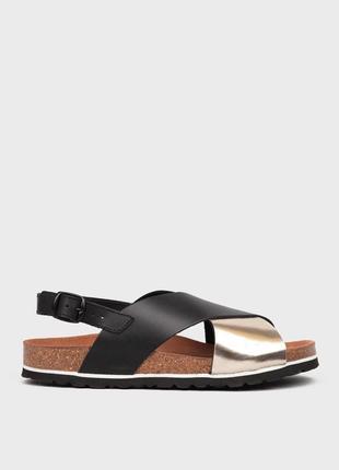 Кожаные сандали preppy