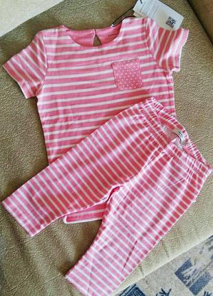 Яркий розовый (полосатый) костюмчик для девочки 3-4 лет