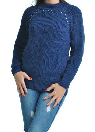 Новая коллекция. красивый свитер с бусинами. нереально теплый, много цветов