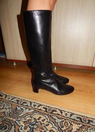 Элегантные кожаные демисезонные сапожки carlo pazolini на 36-36.5 размер