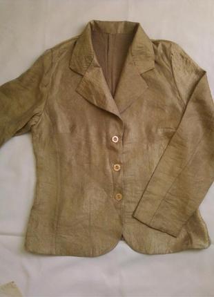 Легкий пиджак без подкладки, золотистый