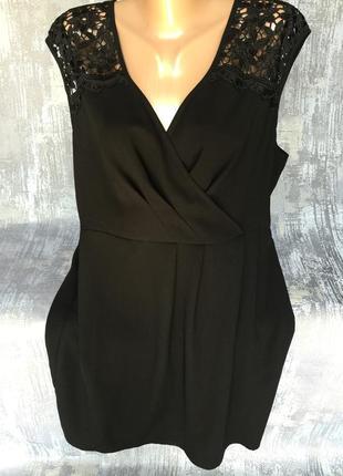 Шикарное черное платье papaya