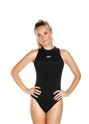Спортивный сдельный чёрный купальник монокини speedo l