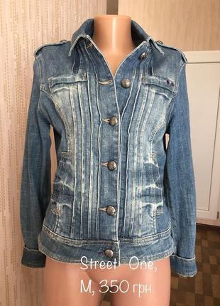 Пиджак курточка джинсовая брендовая street one m