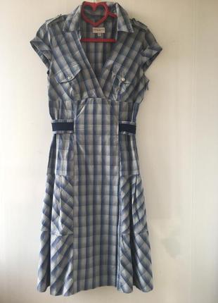 Бесподобное стильное платье рубаха беби долл, клетка karen mullen