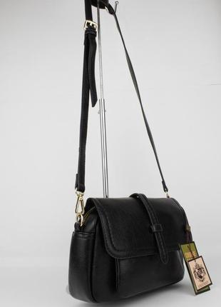 Небольшая сумочка на ремешке valensiy 20773-1 черная