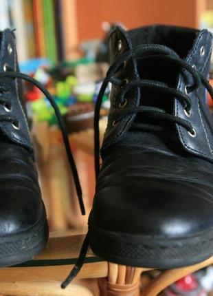 Идеальные демисезонные кожаные ботинки котофей # туфли школьные