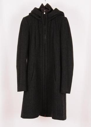 Шерстяное пальто бойфренд zara