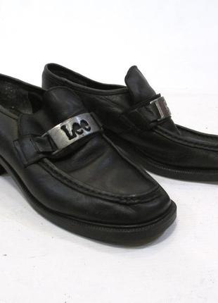 Туфли lee, 7 (37, 24 см), кожа, черные, отл сост!