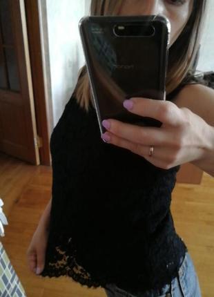 Роскошный базовый топ zara, кружево коттон