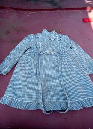 Детское платье в клеточку