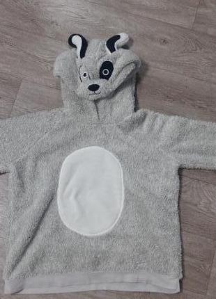 Плюшевый домашний свитер , плюшевая кофта