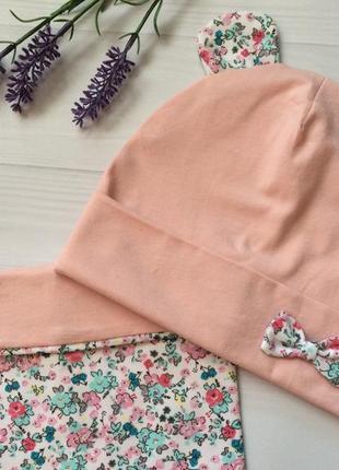 Головний набір (шапка , снуд ) для дівчинки