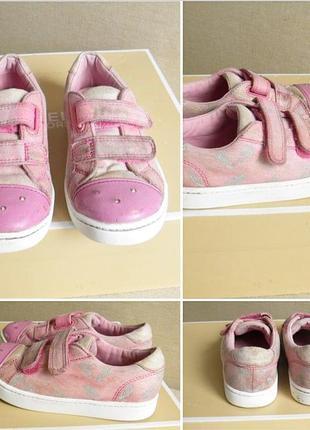 Розовые кеды в блестках clarks с мигалками