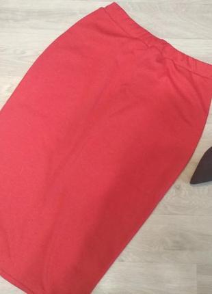 Трикотажная миди юбка-карандаш