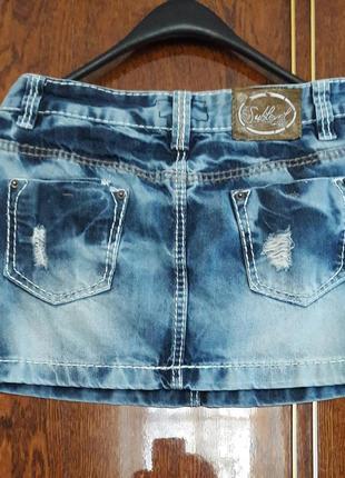 Классная джинсовая юбка, дешево.2 фото