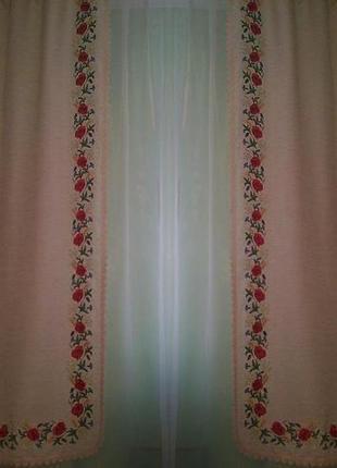Вышитые шторы