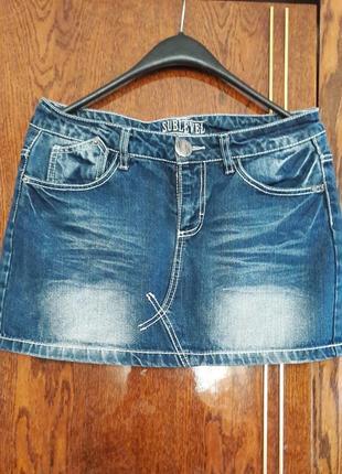 Классная джинсовая юбка, дешево.