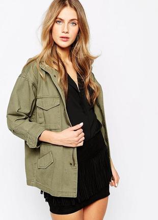 Куртка парка рубашка хаки