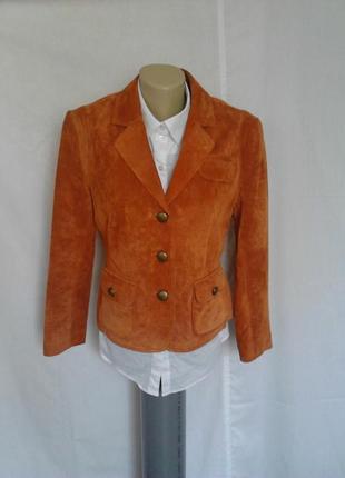 Роскошный замшевые пиджак,жакет,карманы,подкладка,на пуговицах betty barclay