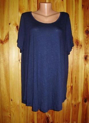 Новая базовая темно-синяя футболка/батал/22-24/56-58 размера от evans