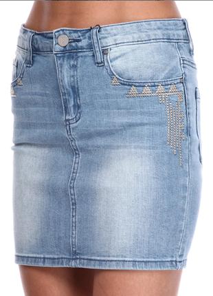Классная джинсовая юбка sisters point, дешево.