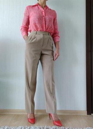 Стильные шерстяные брюки с высокой талией cerruti италия р 36