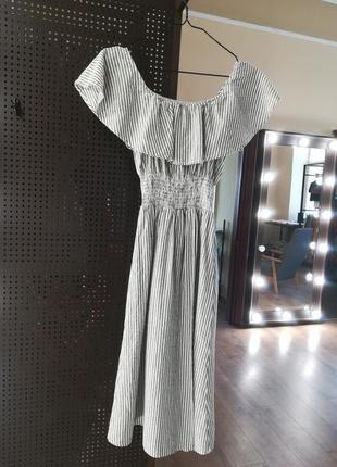 Платье миди в полоску от zara4