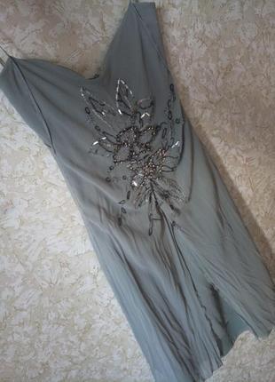 Шикарное вечернее ,повседневное платье сарафан армани италия , скидки на всё