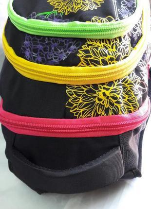 Школьный рюкзак для девочек ортопедический принт цветы вместительный и легкий3 фото