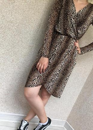 Леопардовое платье sisters point