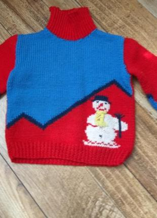 Вязаный свитер,новогодний