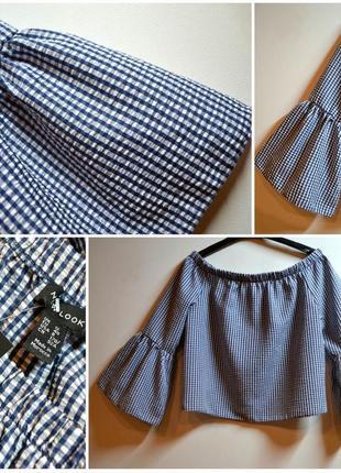 Стильная блуза с шикарным расклешенным рукавом