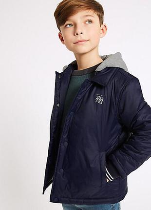 Великолепная деми курточка от marks & spencer для мальчика. размеры 4-5,5-6,6-7,7-8 лет