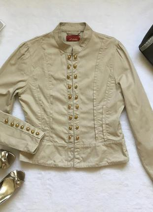 Оригинальный приталенный жакет пиджак джинсовка ad women р-р m