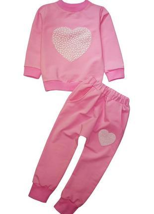 Костюм зефирного цвета (кофта, штаны),р98-104,110-116,116-122 см