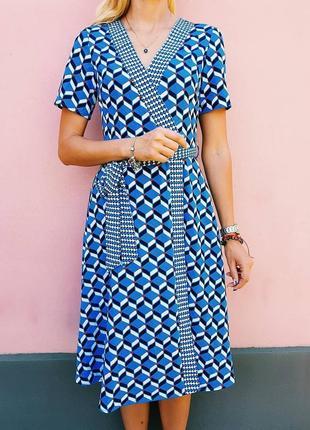 Крутое миди платье в геометрический принт