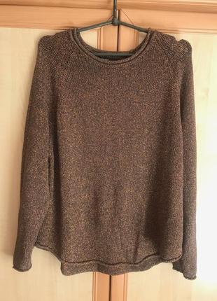 Классный блестящий свитер