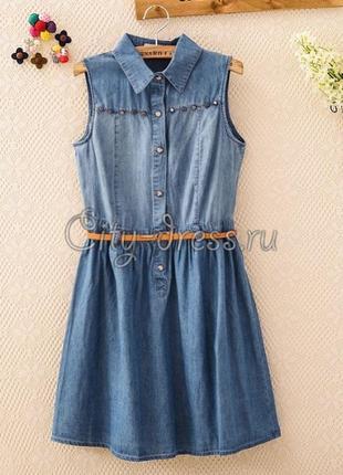 Очень крутое платьице, ткань как джинс с леном. очень легенькое и приятное к телу