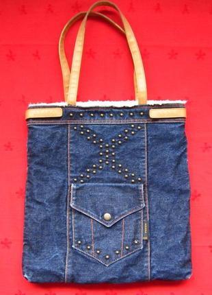 Фирменная джинсовая сумка