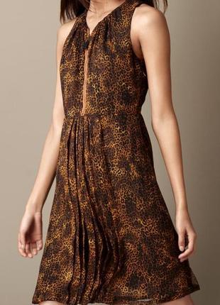 Миди платье с леопардовым принтом burberry