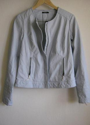Куртка голубая promod (искусственная кожа)арт.900 + 1500 позиций магазинной одежды