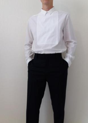 Мягкие  шерстяные темно-синие  брюки cos)  оригинал, размер  54
